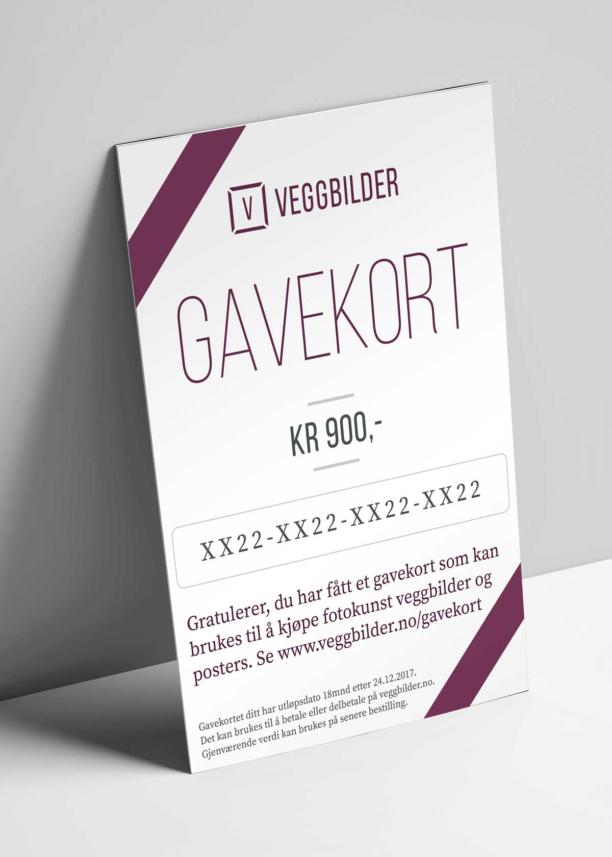 Gavekort på PDF, fotokunst veggbilde / plakat av Peder Eikeland