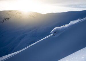 Solnedgang på Nonstind, fotokunst veggbilde / plakat av Kåre Johansen