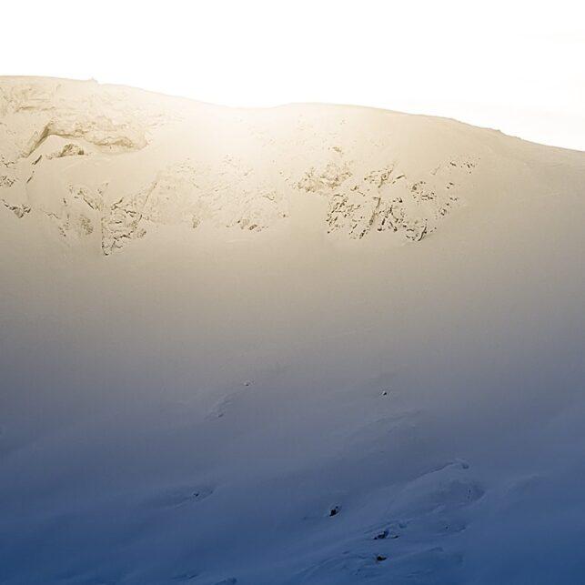 Skikjører i ensom majestet, fotokunst veggbilde / plakat av Bård Basberg