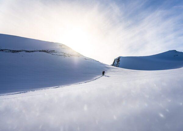 Ferske spor i Lappland, fotokunst veggbilde / plakat av Bård Basberg