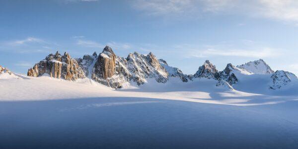 Soloppgang i alpene, fotokunst veggbilde / plakat av Bård Basberg