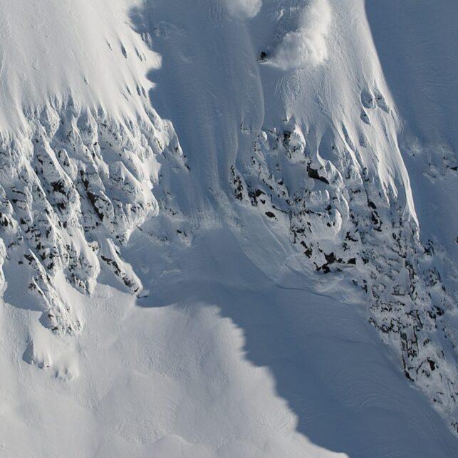 Bratt skikjøring i Jotunheimen, fotokunst veggbilde / plakat av Bård Basberg
