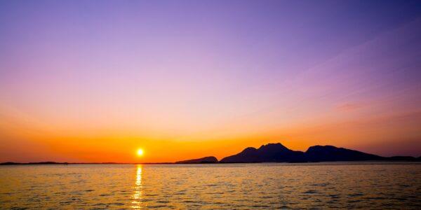 Fantastisk solnedgang, fotokunst veggbilde / plakat av Bård Basberg