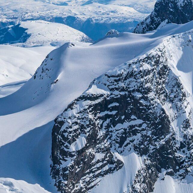 Skikjører i vakkert landskap, fotokunst veggbilde / plakat av Bård Basberg