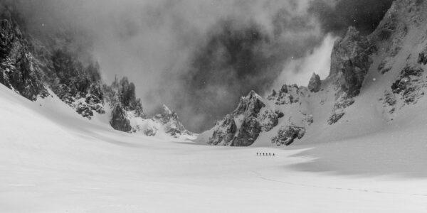 Storm i vinterfjellet, fotokunst veggbilde / plakat av Bård Basberg