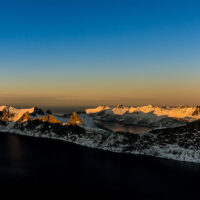Solnedgang på Senja, fotokunst veggbilde / plakat av Bård Basberg