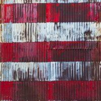 Grafitti med amerikansk flagg, fotokunst veggbilde / plakat av Erling Maartmann-Moe