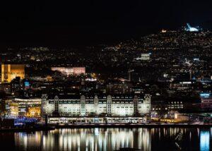 Oslo panoramaperspektiv, fotokunst veggbilde / plakat av Peder Aaserud Eikeland
