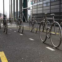 Sykler i Barcode, fotokunst veggbilde / plakat av Erling Maartmann-Moe