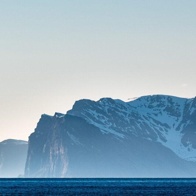 Nord-Fugløya, Lyngen, fotokunst veggbilde / plakat av Erling Maartmann-Moe