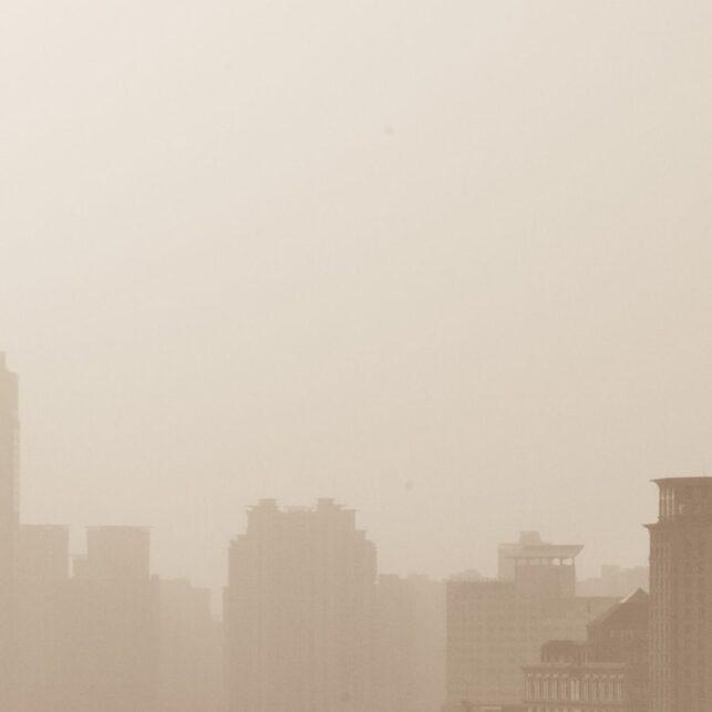 Shanghai skyline, fotokunst veggbilde / plakat av Erling Maartmann-Moe