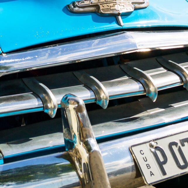 Klassisk amerikansk bil i Havana, fotokunst veggbilde / plakat av Erling Maartmann-Moe