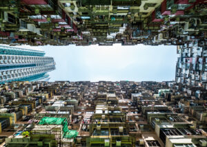 Hong Kong - Choi Hung Estates, bygd 1962, fotokunst veggbilde / plakat av Erling Maartmann-Moe