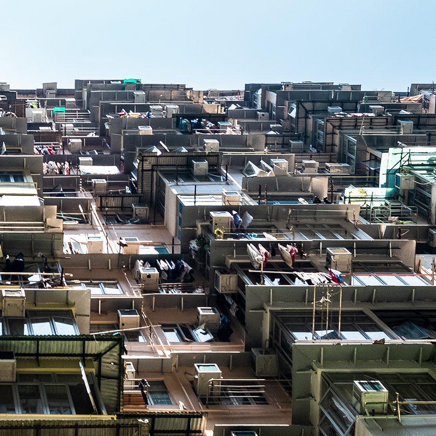 Hong Kong - Monster Building (Yik Cheong Building) I av Erling Maartmann-Moe
