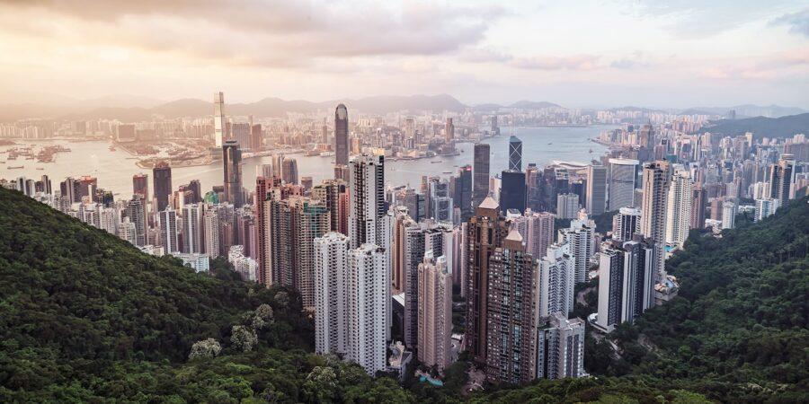 Hong Kong - kveldsutsikt fra Victoria Peak III av Erling Maartmann-Moe