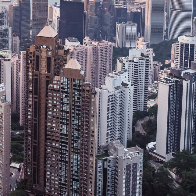 Hong Kong - kveldsutsikt fra Victoria Peak III, fotokunst veggbilde / plakat av Erling Maartmann-Moe
