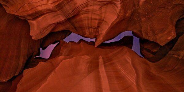 Antelope Canyon nær Page, AZ, kanskje den mest berømte sandsteinscanyon i USA, fotokunst veggbilde / plakat av Erling Maartmann-Moe
