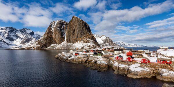 Postkortmotiv fra Hamnøy i Reine., fotokunst veggbilde / plakat av Eirik Sørstrømmen
