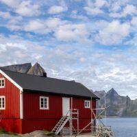 Den Beste Utsikten i Lofoten, fotokunst veggbilde / plakat av Eirik Sørstrømmen