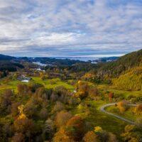 En flott høstdag ved Lysekloster., fotokunst veggbilde / plakat av Eirik Sørstrømmen