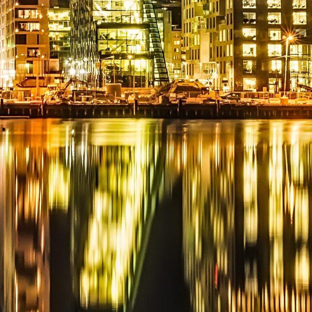 Oslo Barcode, fotokunst veggbilde / plakat av Gunnar Kopperud