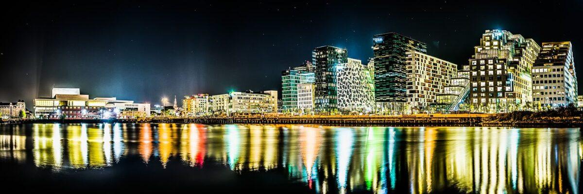Oslo Opera og Barcode, fotokunst veggbilde / plakat av Gunnar Kopperud