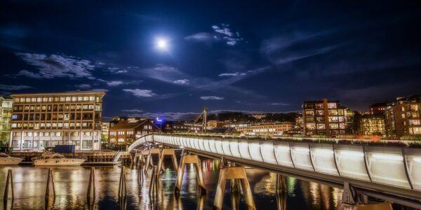 Verftsbrua i Trondheim, fotokunst veggbilde / plakat av Gunnar Kopperud