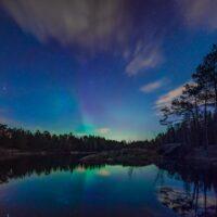 Nordlys over Molbekktjernet av Gunnar Kopperud