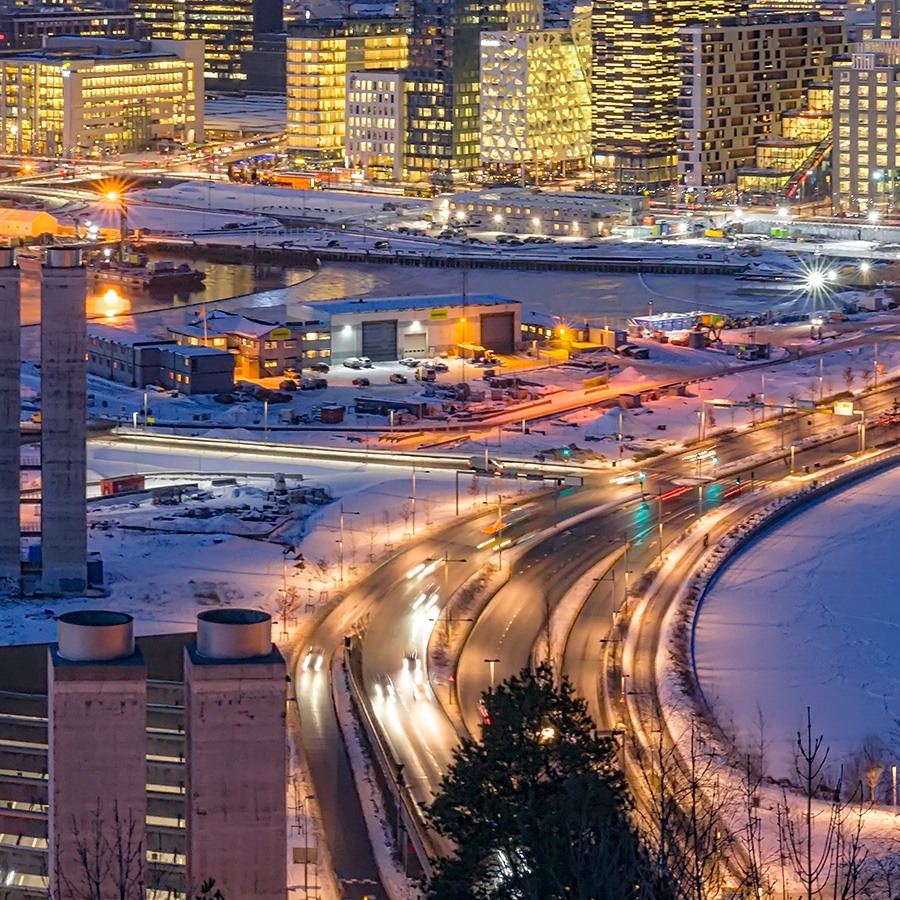 Blåtimen over Oslo av Gunnar Kopperud