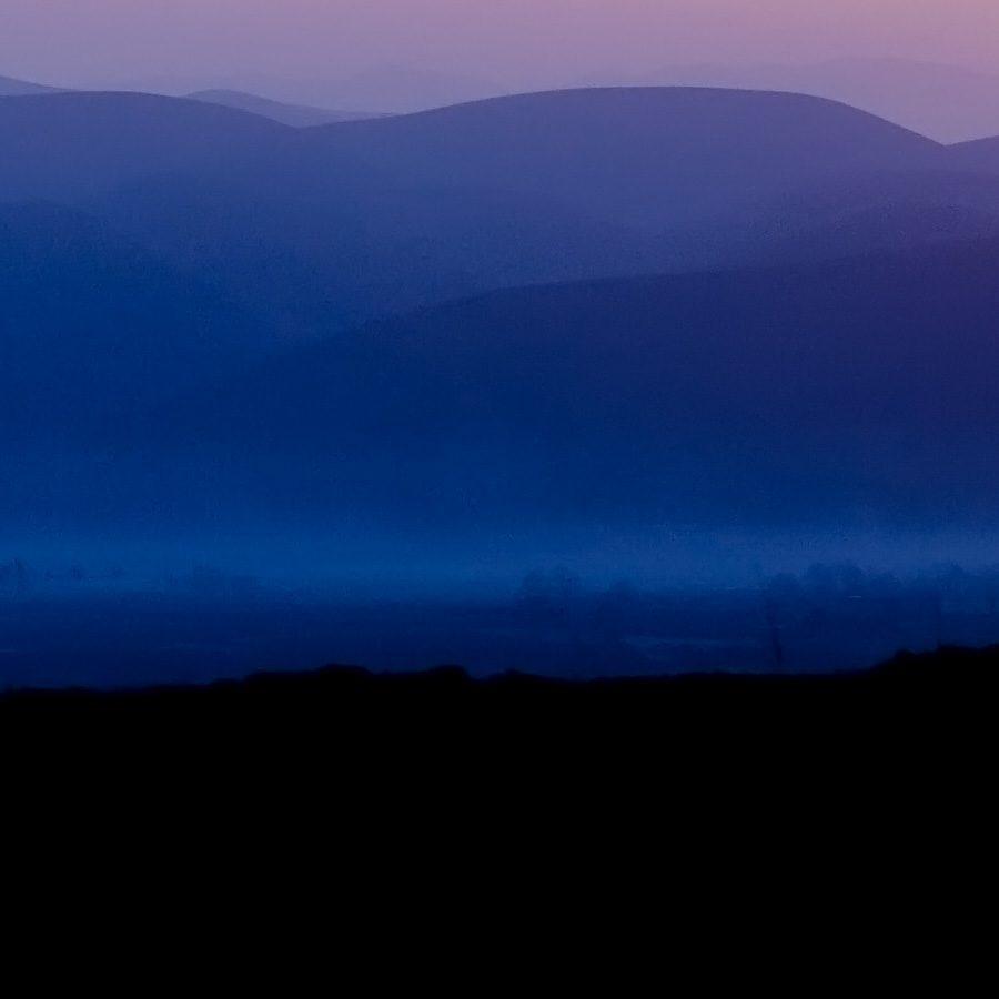 Solnedgang Afghansk landskap av Henning Mella