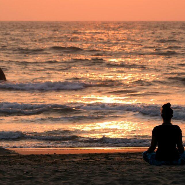 Yoga Agonda India, fotokunst veggbilde / plakat av Henning Mella