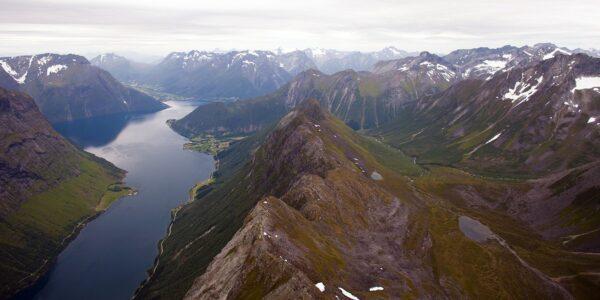 Norangsfjorden, fotokunst veggbilde / plakat av Henning Mella