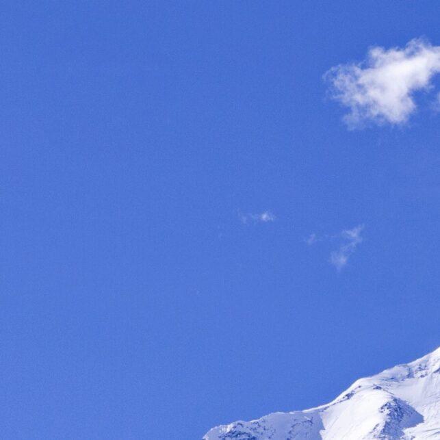 Annapurna i solnedgang, fotokunst veggbilde / plakat av Henning Mella