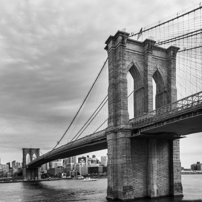 Historiske Brooklyn Bridge, fotokunst veggbilde / plakat av Kåre Johansen