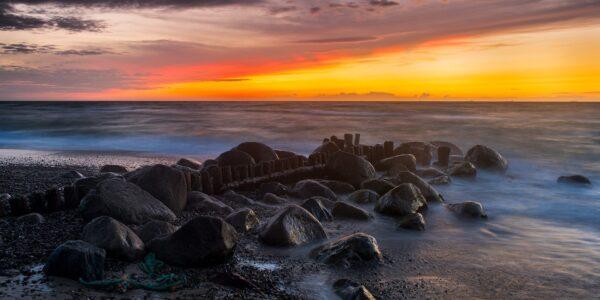 Solnedgang i Gamle Skagen, fotokunst veggbilde / plakat av Kåre Johansen