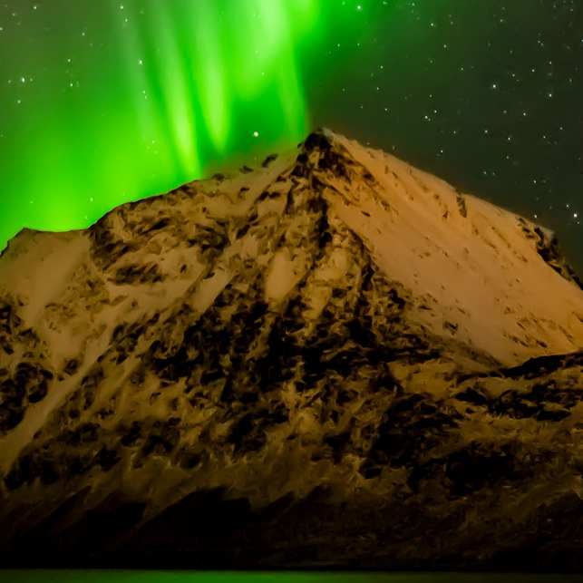 Dansende nordlys, fotokunst veggbilde / plakat av Kåre Johansen