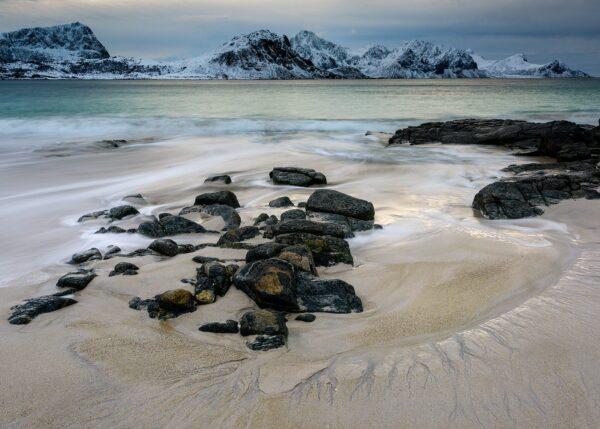 Ettermiddag på Haukelandstrand, fotokunst veggbilde / plakat av Kåre Johansen