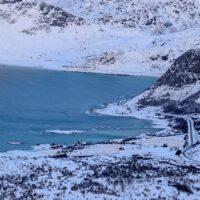 Utsikt fra Offersøykammen - Lofoten, fotokunst veggbilde / plakat av Kåre Johansen