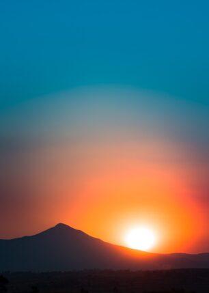 Solnedgang på Madagaskar, fotokunst veggbilde / plakat av Kåre Johansen