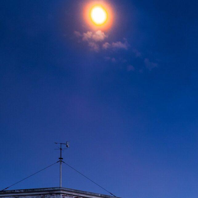 Lindesnes Fyr i måneskinn, fotokunst veggbilde / plakat av Kåre Johansen