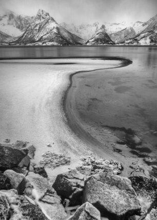 Isen legger seg, fotokunst veggbilde / plakat av Kåre Johansen