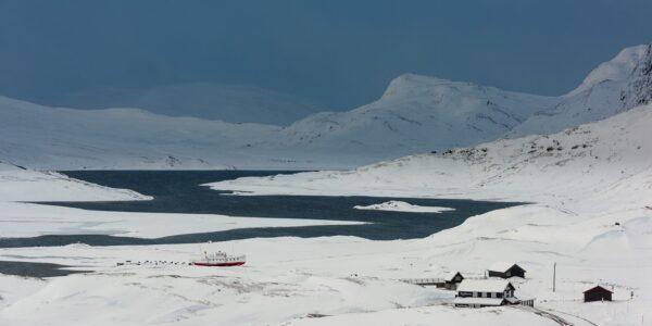 Før isen legger seg på Bygdin, fotokunst veggbilde / plakat av Kåre Johansen