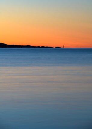 Solnedgang på Hovsund, fotokunst veggbilde / plakat av Kåre Johansen