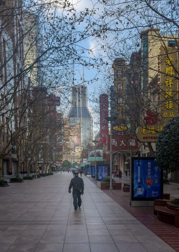 Stille morgen i Shanghai, fotokunst veggbilde / plakat av Kåre Johansen
