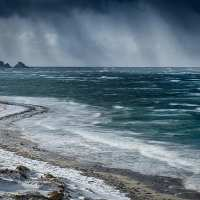 Det blåser på Bleik, fotokunst veggbilde / plakat av Kåre Johansen