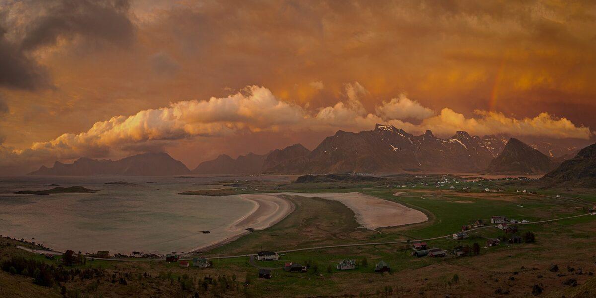 Solnedgang over Sandbotnen, fotokunst veggbilde / plakat av Kåre Johansen