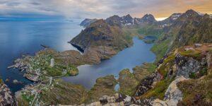 Utsikt over Vestfjorden, fotokunst veggbilde / plakat av Kåre Johansen