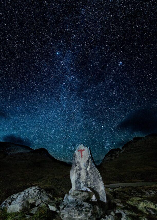 Stjerneklart i Rondane, fotokunst veggbilde / plakat av Kåre Johansen
