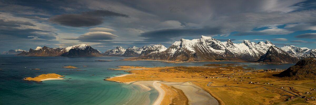 Utsikt fra Ytresandheia, fotokunst veggbilde / plakat av Kåre Johansen