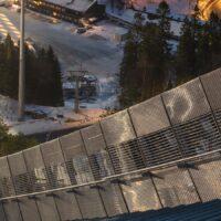 På toppen av Holmenkollen, fotokunst veggbilde / plakat av Kåre Johansen